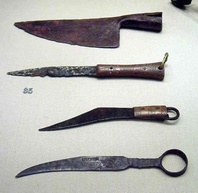 La evolución en la historia de los cuchillos